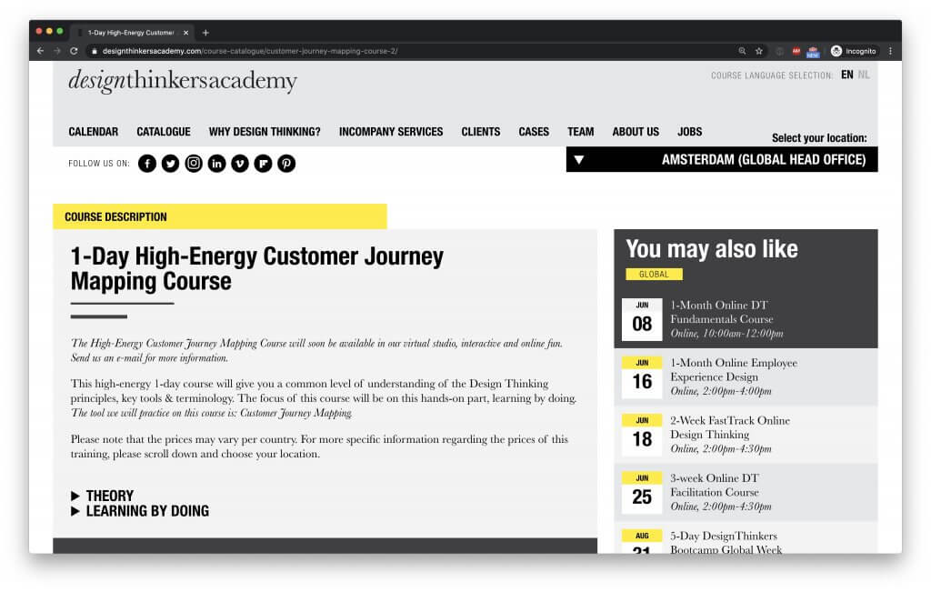 Design Thinkers Academy Journey Mapping Course