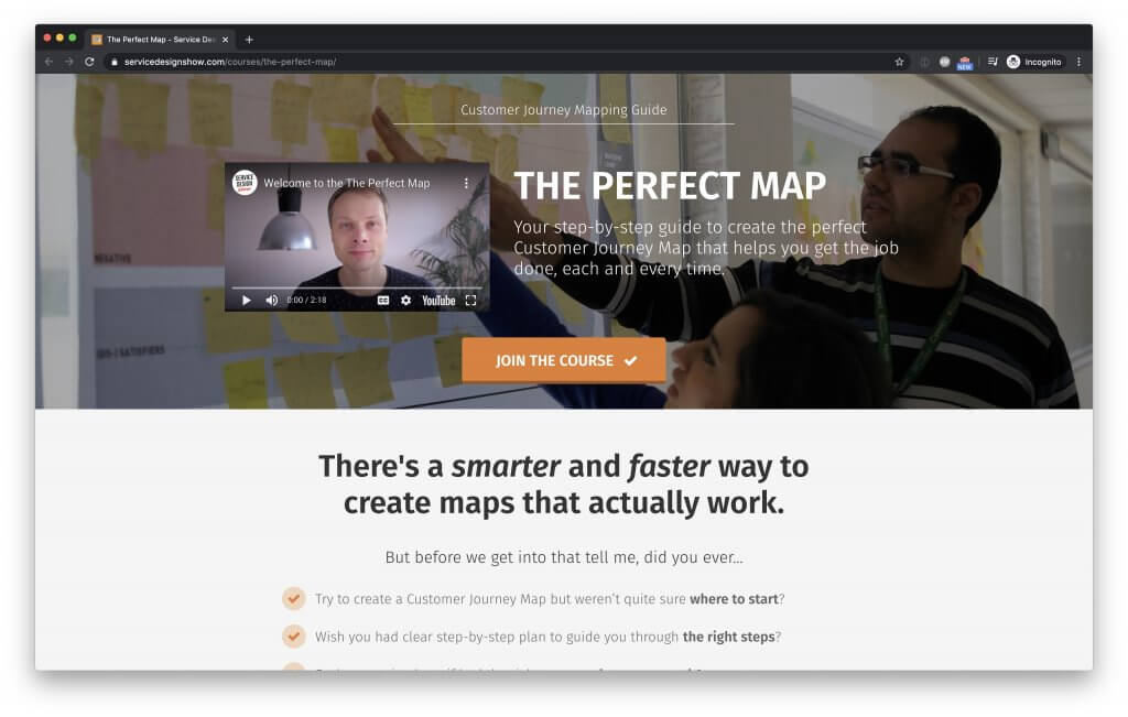 Learn more about The Perfect Map - Journey Mapping Course