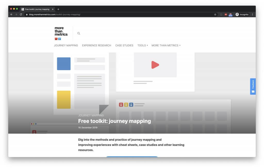 Journey Mapping toolkit by Smaply